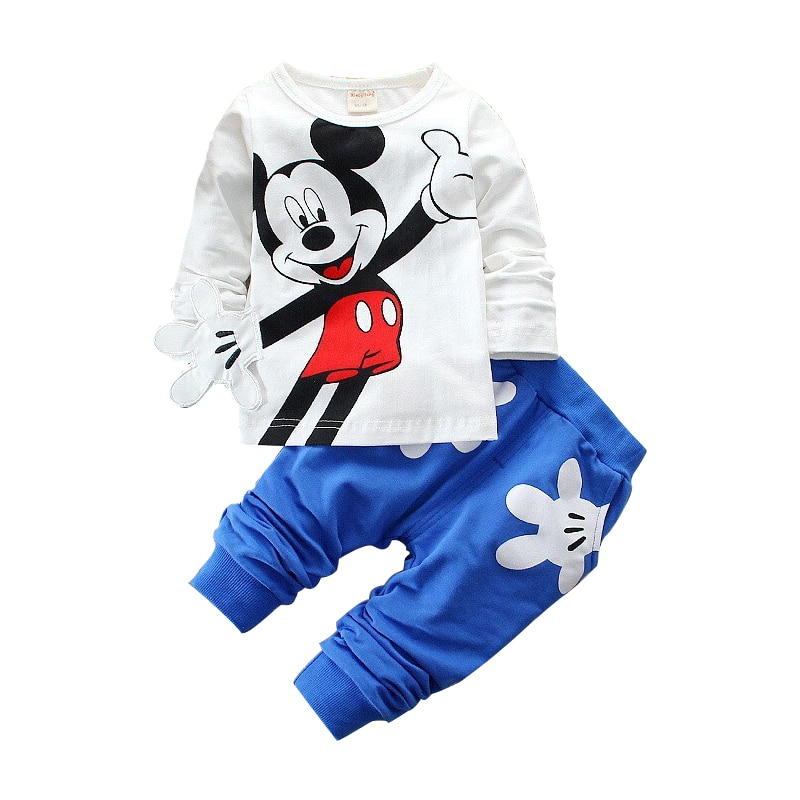 winter clothing children s clothing boys and girls 2 pieces set children s suits keep warm jackets and pants kids clothes Boys Girls Clothing Sets Children Cotton Sport Suit Kids Mickey Minnie Cartoon T-shirt And Pants Set Baby Kids Fashion Clothes
