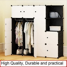 Simple Portable Wardrobe Assembly Plastic Wardrobe Bedroom Locker Wardrobe