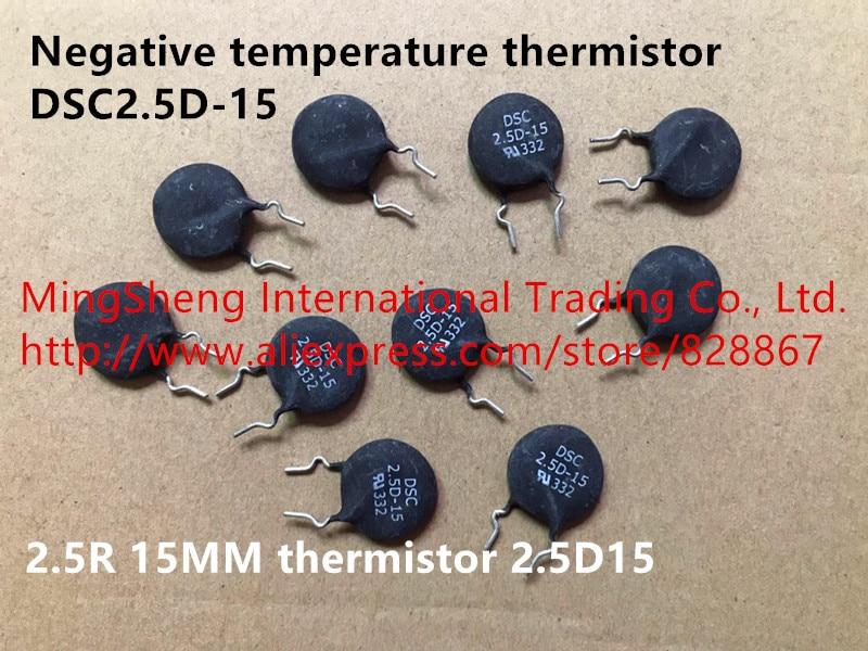 Original neue 100% negative temperatur thermistor DSC2.5D-15 2.5R 15mm thermistor 2.5D15 (Inductor)