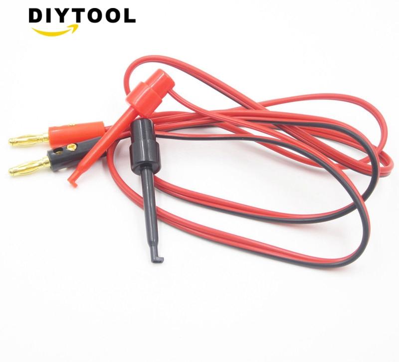Cables de prueba multímetro Digital, Clip de gancho de prueba pequeño para cable de multímetro con conector Banana