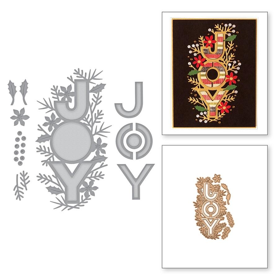 Radość kwiat Wrap wzór metalowe wykrawacze szablony Scrapbooking tłoczenie na karta papierowa DIY artykuły rzemieślnicze