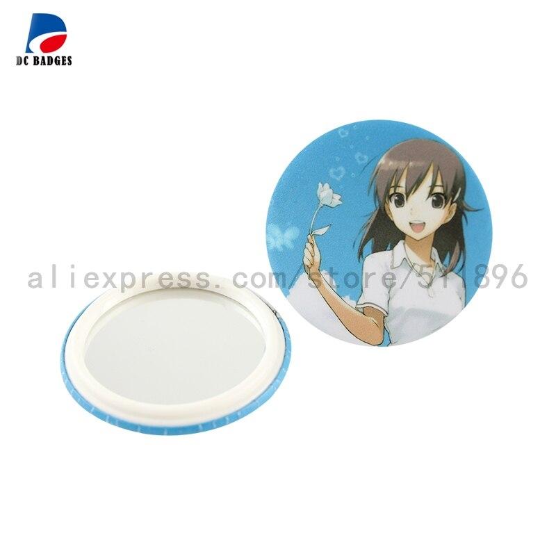 """200 sets 2-1/4 """"(58mm) materiales de los botones de espejo de los fabricantes de insignias"""