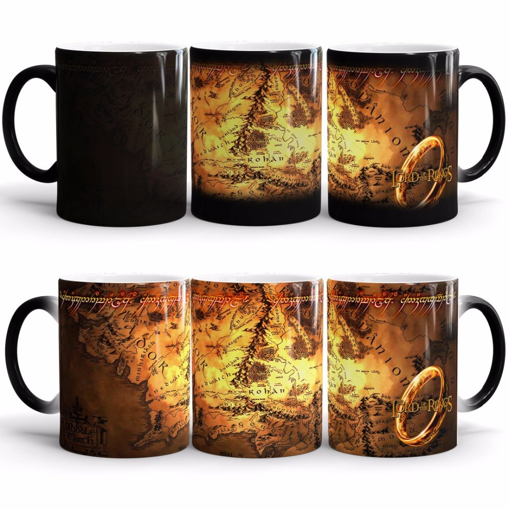 Drop Shipping! Coffee Mug Color Changing Cup Sensitive Ceramic Mugs