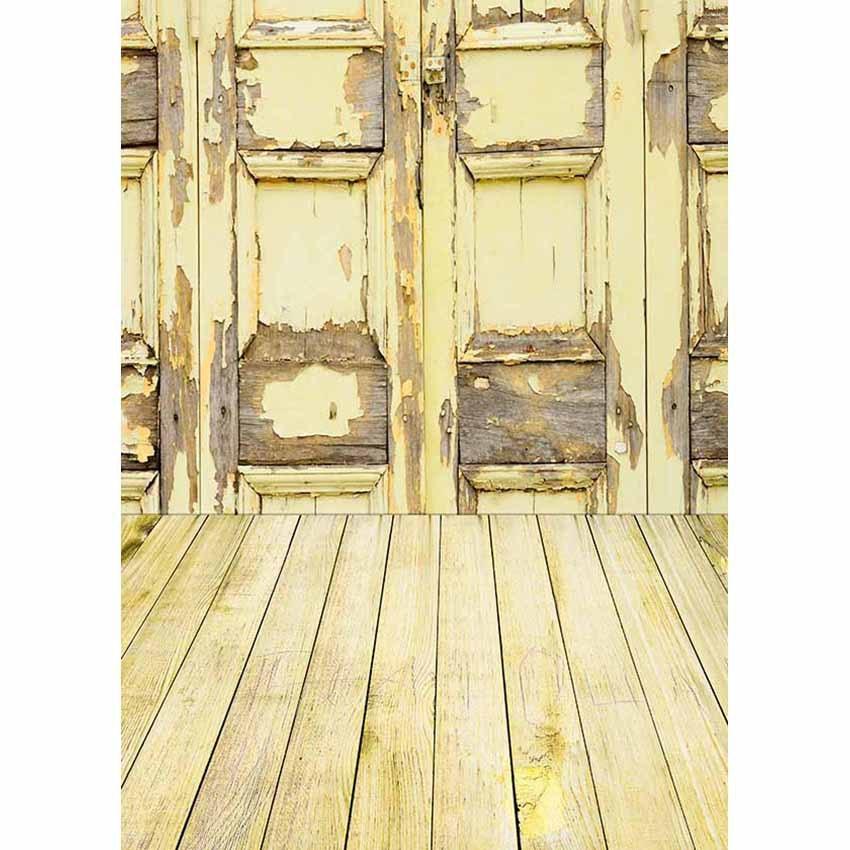 LIFE MAGIC BOX Backdrops foto De tela amarilla puerta De madera selva fiesta Toile De Fond Backdrops