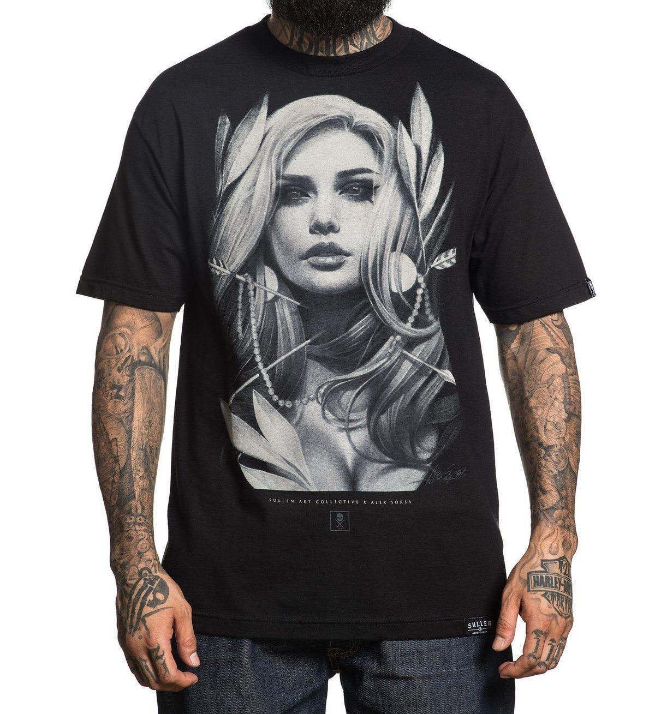 SOLENE ROUPAS Setas Alex Sorsa Art T-Shirt Preto T-Shirt NOVO Camisa Dos Homens T de Manga Curta camisa Da Forma T 2018 Mais Recente moda