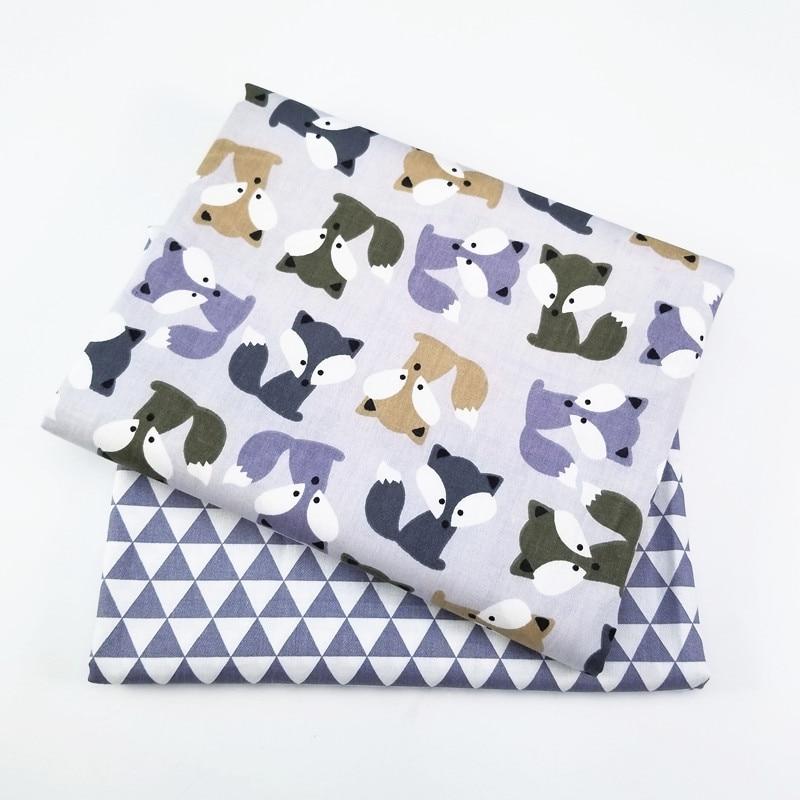 Текстильная саржевая ткань с принтом для домашнего текстиля простыня для кровати мягкая ткань Лоскутная Детская кукла Tecido Beding 2 шт./лот