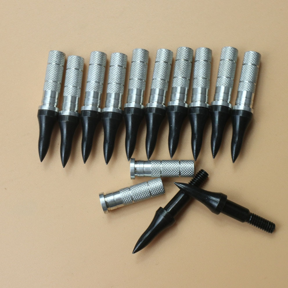 Puntas de arquería con punta de flecha GrainTarget 75 con inserto de aluminio ID 6,2mm apto para carbono/fibra de vidrio/flecha de aluminio