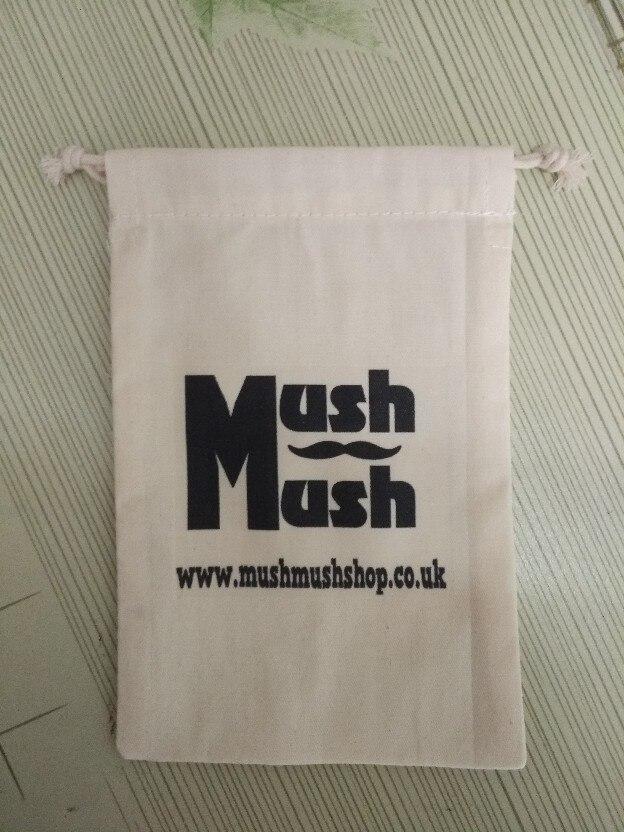 (500pcs/lot)  12x15cm customized logo cotton drawsting bag