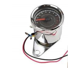 Tachymètre pour moto 1 pièce   Rétro-éclairé, tachymètre jauge de rév compteur 0-13000 RPM chromé 1 pièce