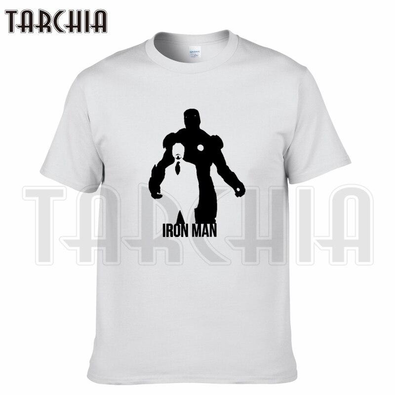 TARCHIA 2018 camiseta de marca de verano de algodón iron Man super hero tops tees de manga corta para hombre Camiseta casual para hombre t plus moda