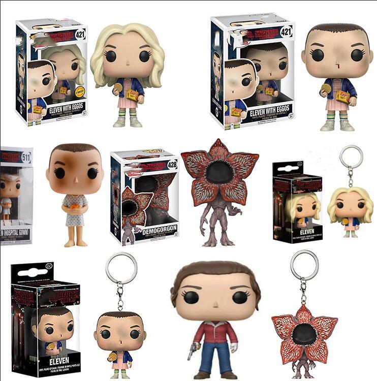 Pop coisas estranhas 3 onze demogorgon hopper jonathan nancy brenner joyce figuras de ação colecionáveis modelo brinquedos