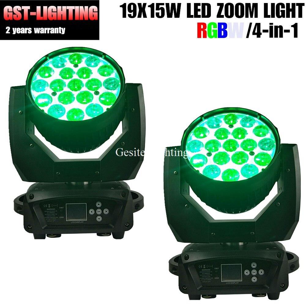 2 xLot 19x12 w RGBW 4in1 LED cabeza móvil iluminación de escenario