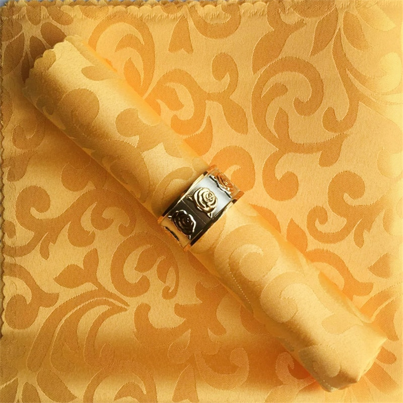 Servilletas de algodón para boda de 10 uds/lote, servilletas de tela blancas para decoración de mesas de eventos de hotel modernas de jacquard para bodas