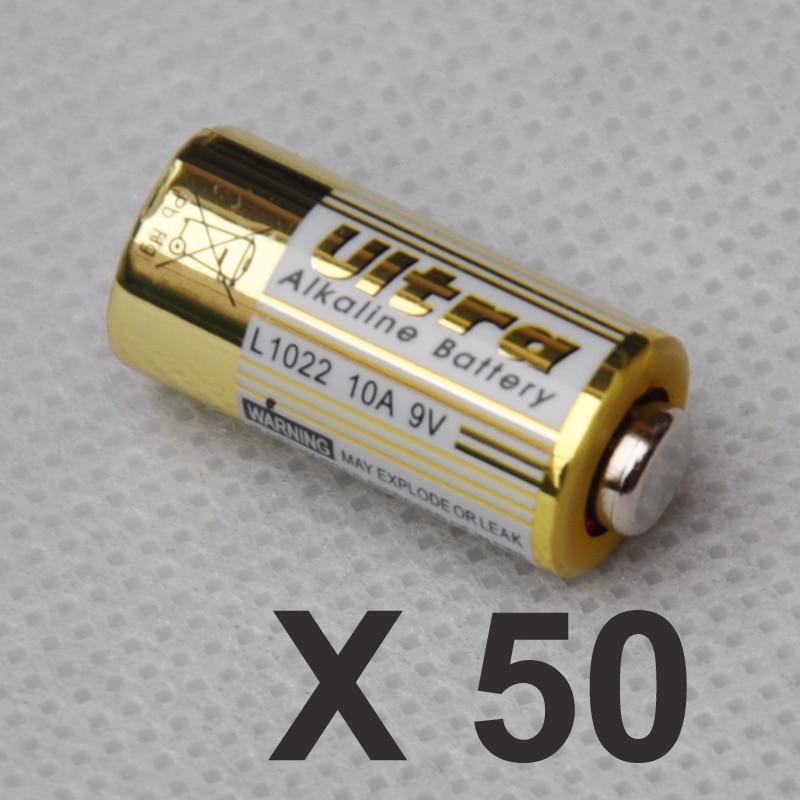 50 PCS 10A 9 V seco bateria alcalina L1022 pamary A23L para Chave Alarme de Controle Remoto campainha