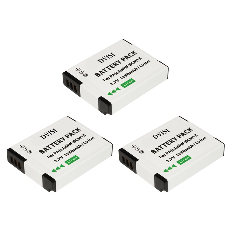 3Pc DMW-BCM13 BCM13 DMWBCM13 Battery for Panasonic CGA-S/106C CGA-S/106D CGA-S106B DE-A59B A60A DE-A60B DMC-F2 F2EB F2K F2P F2GN