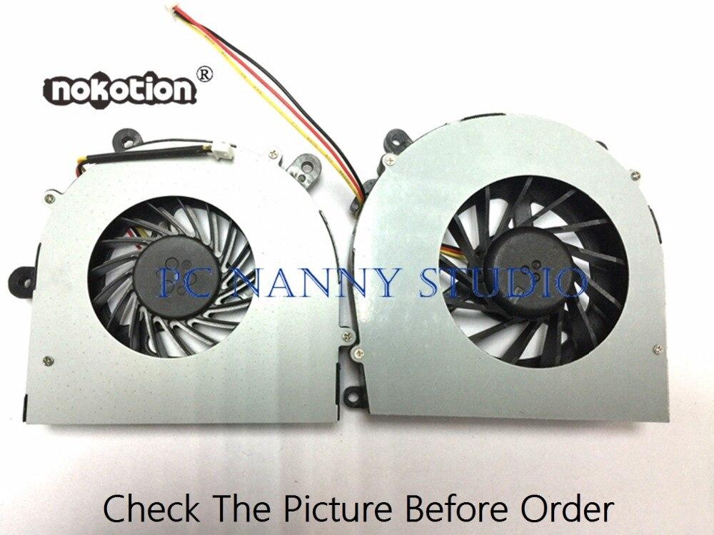 NOKOTION для CLEVO P151EM P150EM P170EM P170HM левый и правый охлаждающий вентилятор Cpu кулер для работы