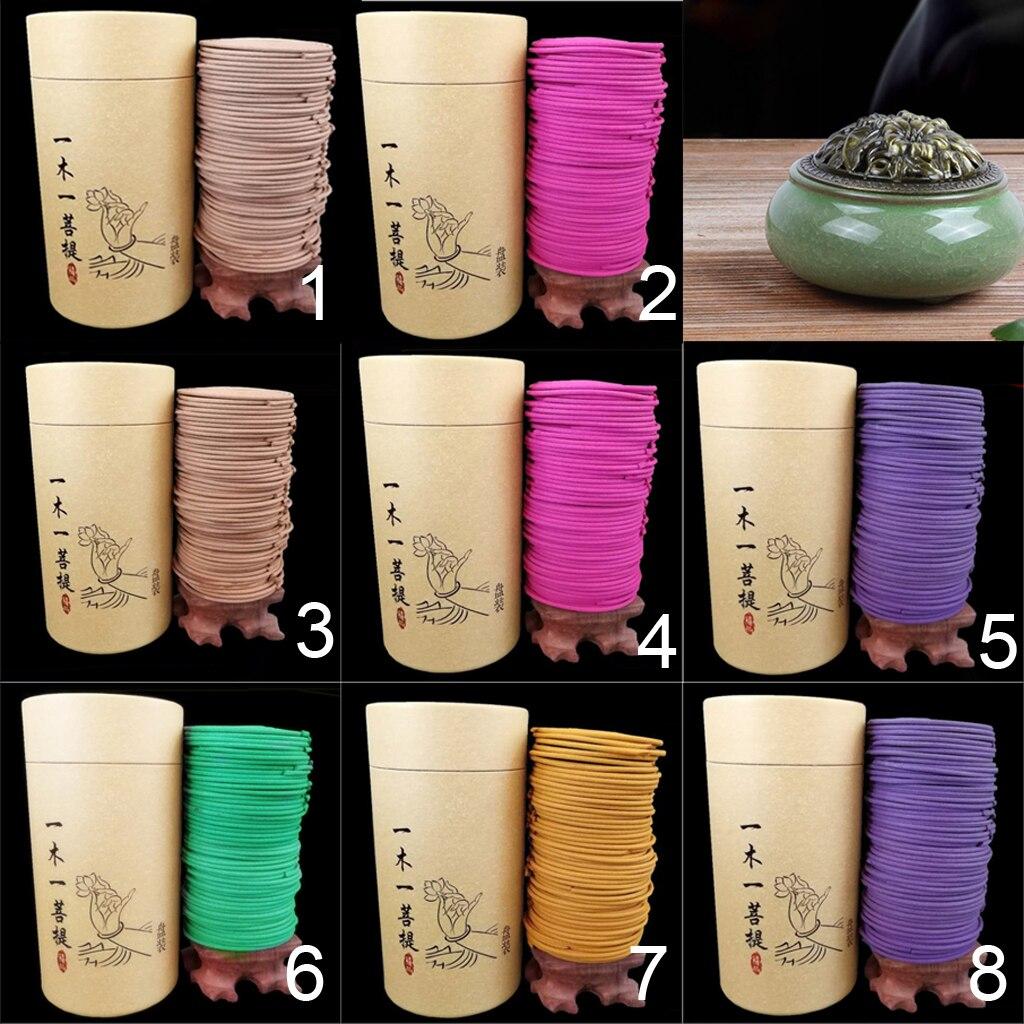 120 pçs/caixa espiral natural incenso bobinas interior aromaterapia para sala de estar casa chá yoga sala multi ocasiões