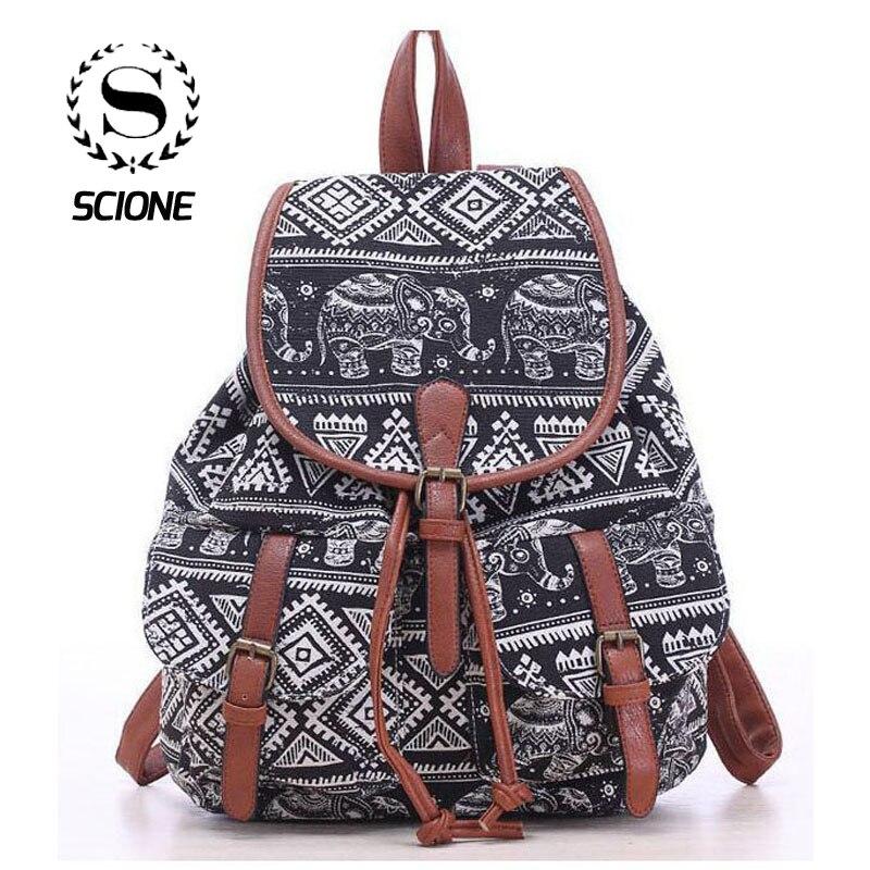 ¡Oferta! Mochila Vintage de lona para mujer, mochilas étnico nacional, mochila para niña, mochila escolar, bolso de viaje de hombro, 524t