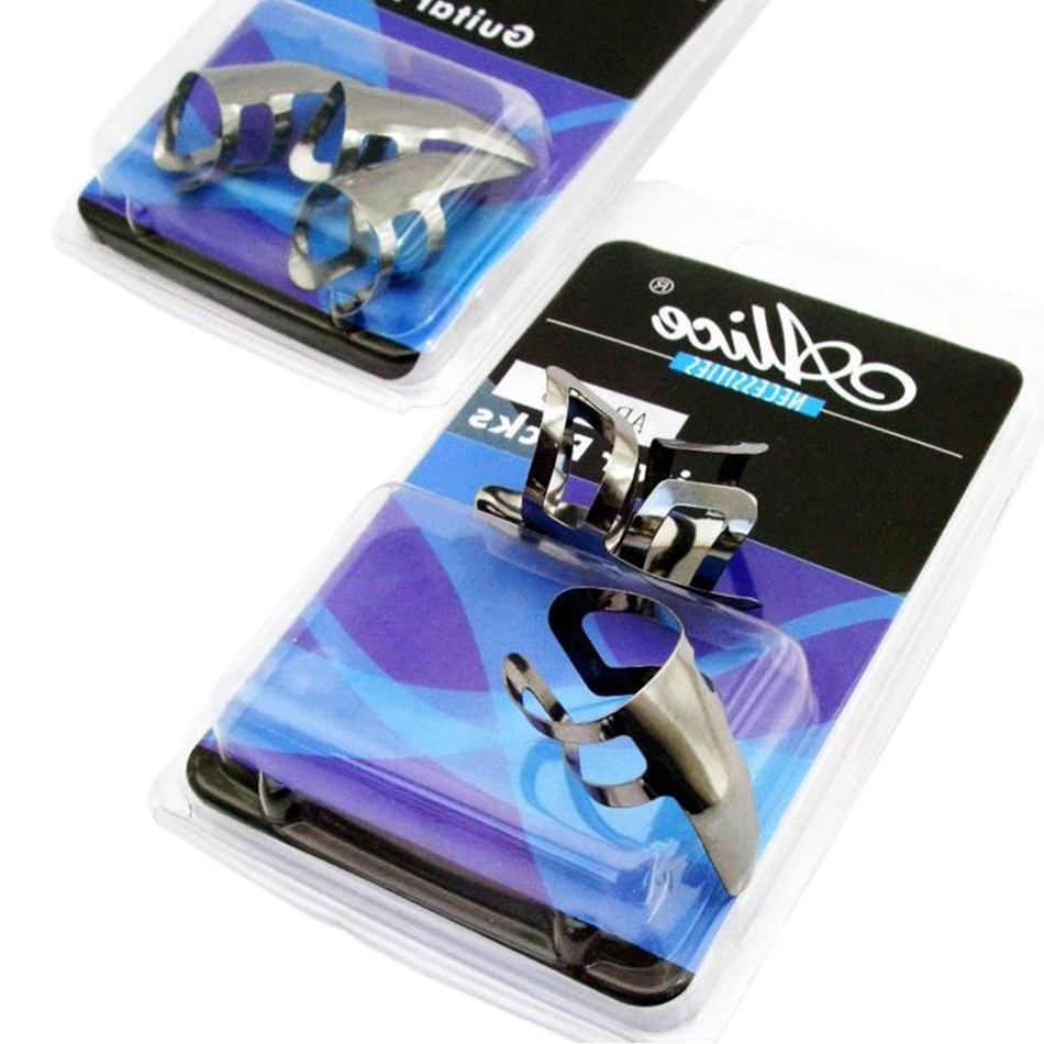 Haute qualité 3 pièces/ensemble Alice Finger Finger style guitare médiator acier inoxydable guitare Plectrums accessoires durables