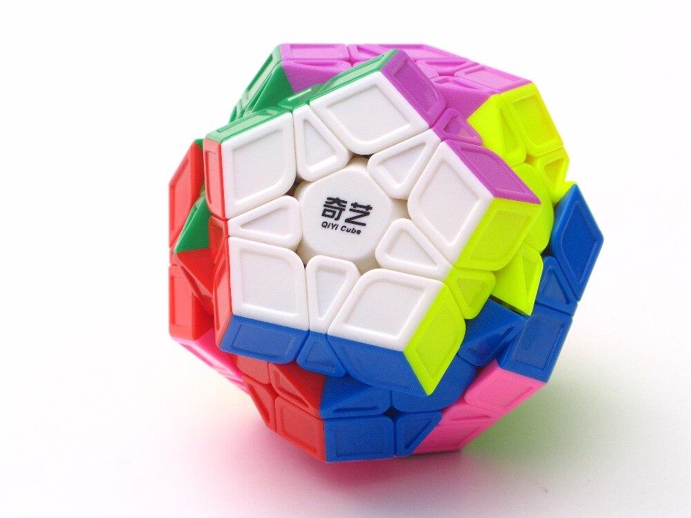 Nuevo QiYi Mofangge QiHeng S 3x3 dodecaedro (escultura) cubo mágico rompecabezas Wumofang 3x3 mega velocidad cubo mágico juguetes para chico juego