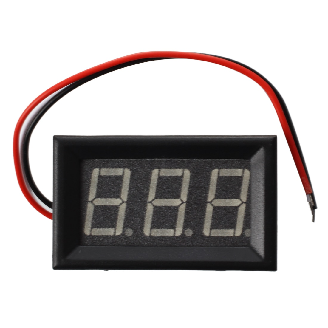¡El mejor precio! Mini voltímetro de voltaje del panelímetro DC 0 - 200 V 20 mA amarillo tres Cables