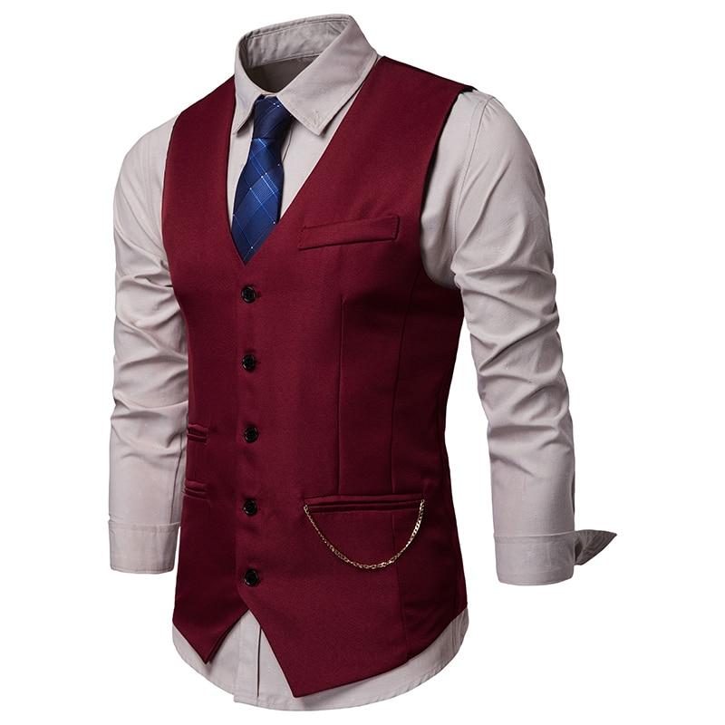 Novedad de 2019, chaleco de Cachemira clásica Jacquard para hombre, chaleco, pañuelo, corbata celebración boda, chaleco, traje de bolsillo sólido