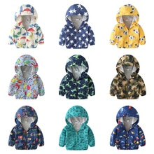 Autumn children jackets New 2Y 6Y cartoon print baby boys & girls outerwear coats casual hooded jack