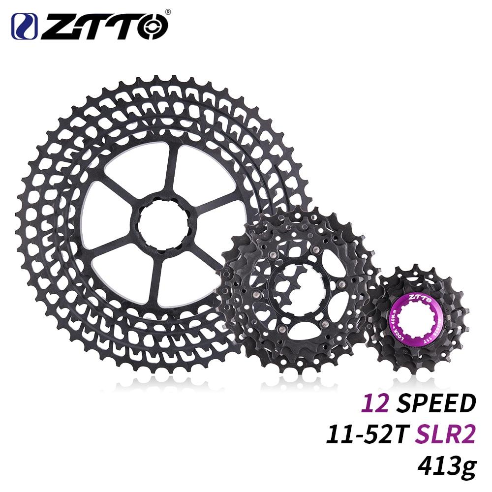 ZTTO 12 Speed Cassette 11-52T SLR 2 12s MTB 12Speed UltraLight K7 12V 413g CNC Freewheel Mountain Bike Bicycle Parts for HG Hub