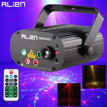 ALIEN 96 Patronen Dual Rood Groen Laser Projector Blauw LED Podium Verlichting Effect DJ Disco Club Party Wedding Licht Met remote