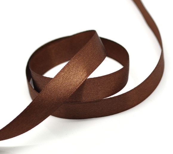 """Doreenbeads marrom escuro 1/2 """"largo casamento artesanato fita de cetim, vendido por pacote de 1 rolo (22.5 m)"""