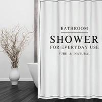 Happy Tree-rideau de bain en Polyester  rideau de douche en tissu epais  blanc et noir  pour salle de bain  taille 180x180cm