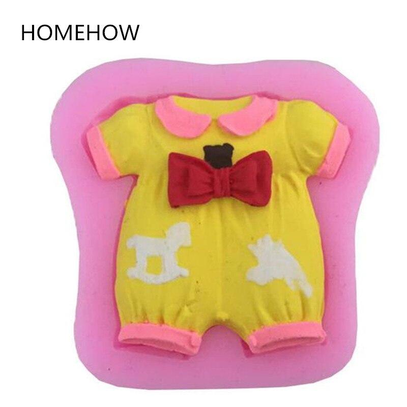 1 шт./лот, милая детская одежда, силиконовая форма для торта, для новорожденных, для вечеринки, дня рождения, печенья, кекса, для украшения тор...