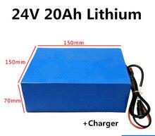 Paquet de batterie dion de Lithium de 24 V 20Ah pour le scooter + chargeur électriques de réverbère solaire de planche à roulettes de vélo électrique de fauteuil roulant de puissance