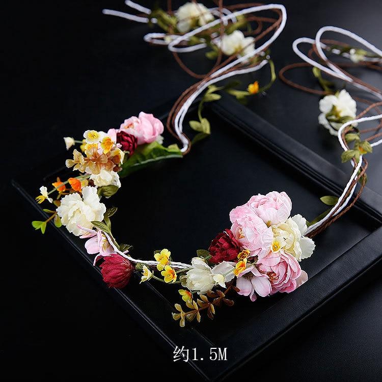Необычные ротанга Mori flower Фея венок невесты украшение для волос, тиара pinches para el pelo свадебные аксессуары для волос