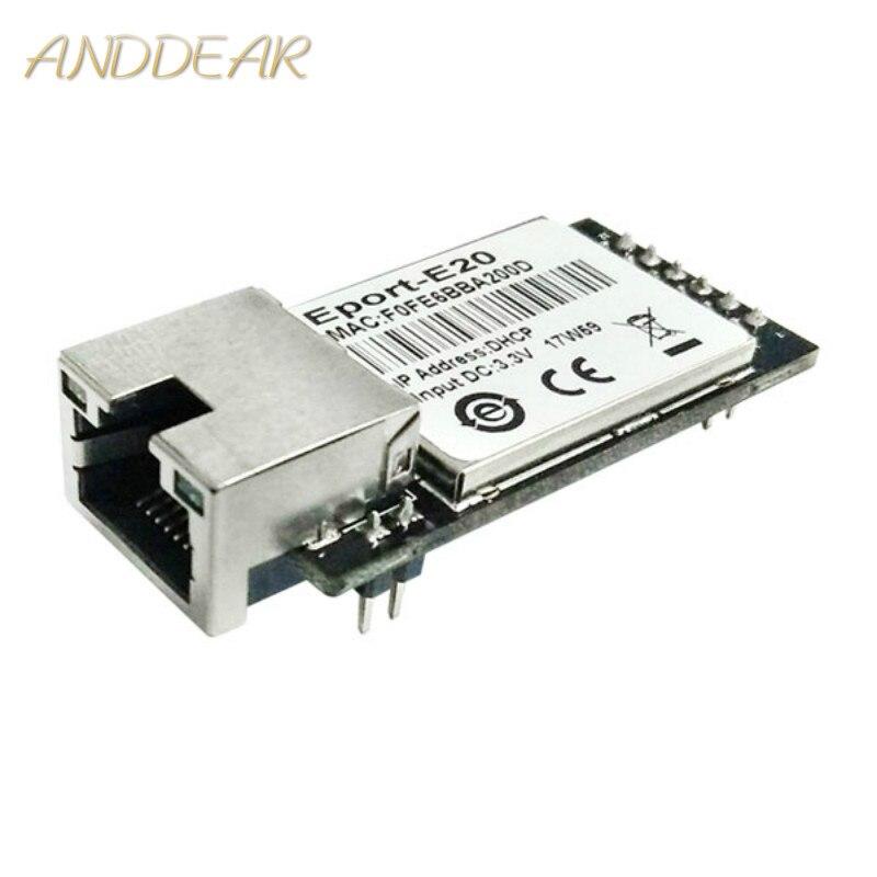 Módulos wifi de alta velocidad CE ANDDEAR Eport-E20 redundantes TTL y Ethernet módem integrado DHCP 3,3 V TCP IP