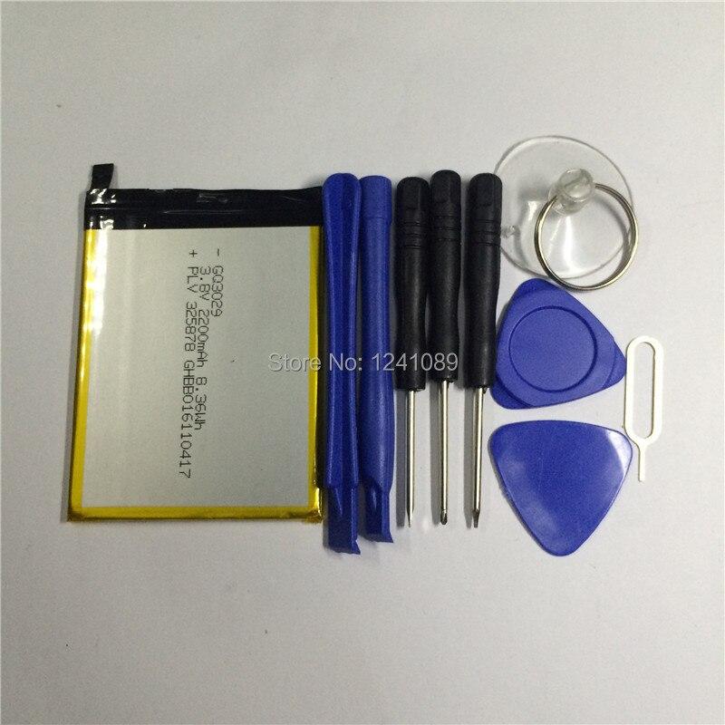 100% bateria original ulefone u007 bateria 2200 mah 5.0 polegada mtk6580a dar desmontar ferramenta ulefone acessórios móveis
