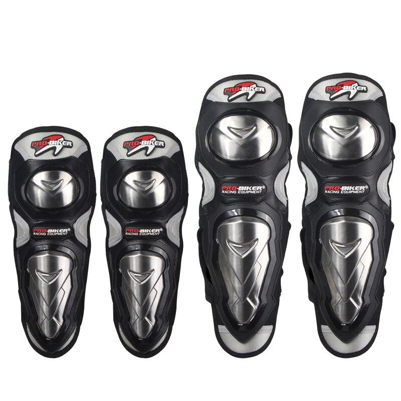 Probiker motocicleta de aço inoxidável joelheiras proteção joelheiras joelheiras & cotovelo almofadas equipamentos corrida equitação engrenagem protetora HX-P19