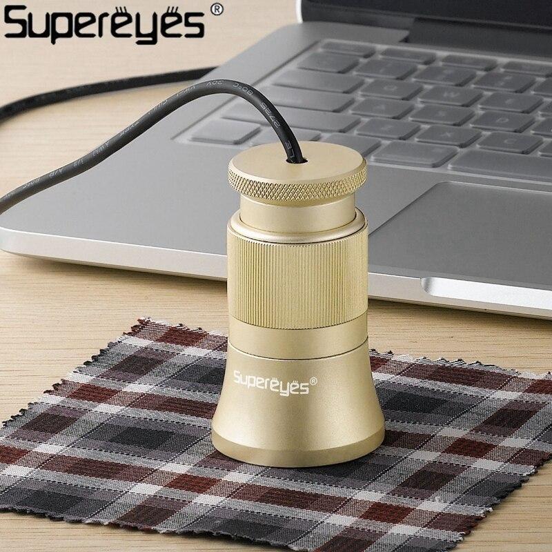 C003 Numérique Microscope Automatique Textile Analyze Contre Fils De Lin Testeur Microscope avec Mise Au Point Manuelle et la Capacité de Zoom