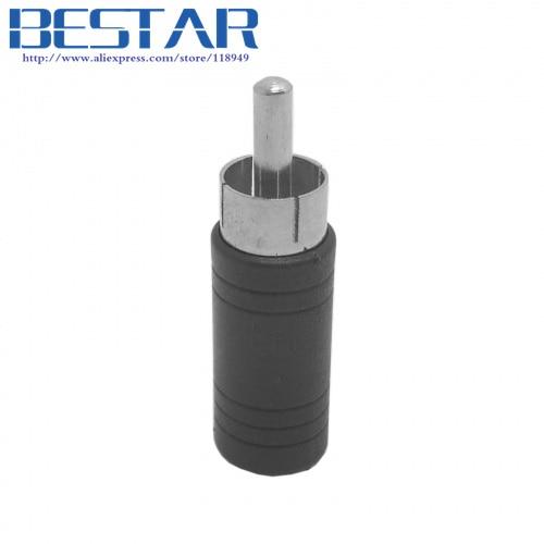 Mono 3.5mm Jack 3.5 mm Socket Female to AV RCA Plug Male Audio extension Adapter Nickel Plated
