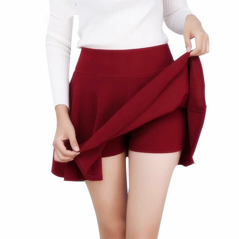 AliExpress - Danjeaner M-5XL 10 Colors Women's High Waist Pleated Skirts Pants 2018 Summer  Super Elastic Mini Skirts Faldas Mujer Saias