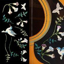 Autocollants autocollants incrustés pour guitare basse-ensemble colibri assorti