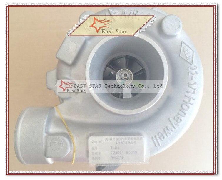 Turbo Original TA31 4982530 5275354 4988426 728001 728001-5001 s Turbocharger Para Dong feng Para gerador CUMMIN-S 4BTA 3.9L 60KW
