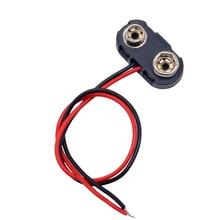 T type pile 9V connecteur à pression   clip, support de fils de plomb, longueur de la ligne 15CM