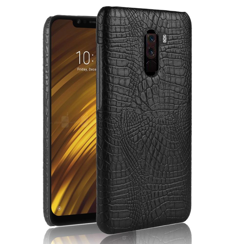 New arrival For Xiaomi Pocophone F1 Global Version F 1 Case Retro Luxury Crocodile Skin Cover For Xi