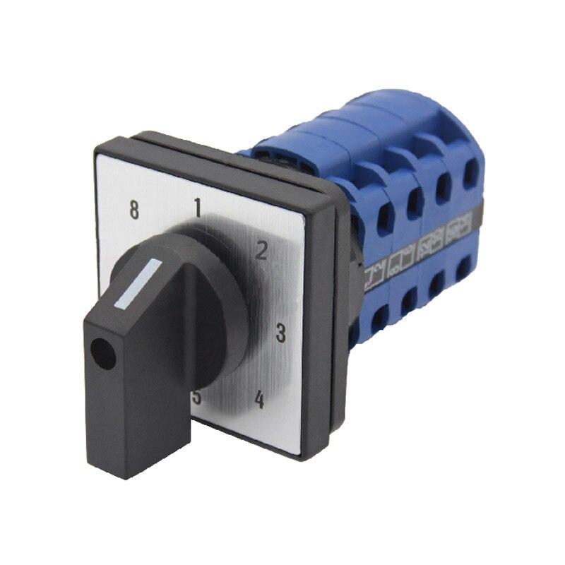 Umstellung rotary cam schalter 660 V 20A 8 position drehschalter 16 terminals 4 pole control motor elektrische schalter