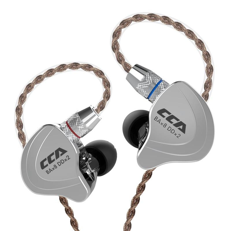 CCA C10 4BA Mit 1DD Hybrid In Ohr Kopfhörer HIFI DJ Monito Laufsport Kopfhörer 5 Stick Headset Abnehmbare Lösen 2PIN Kabel