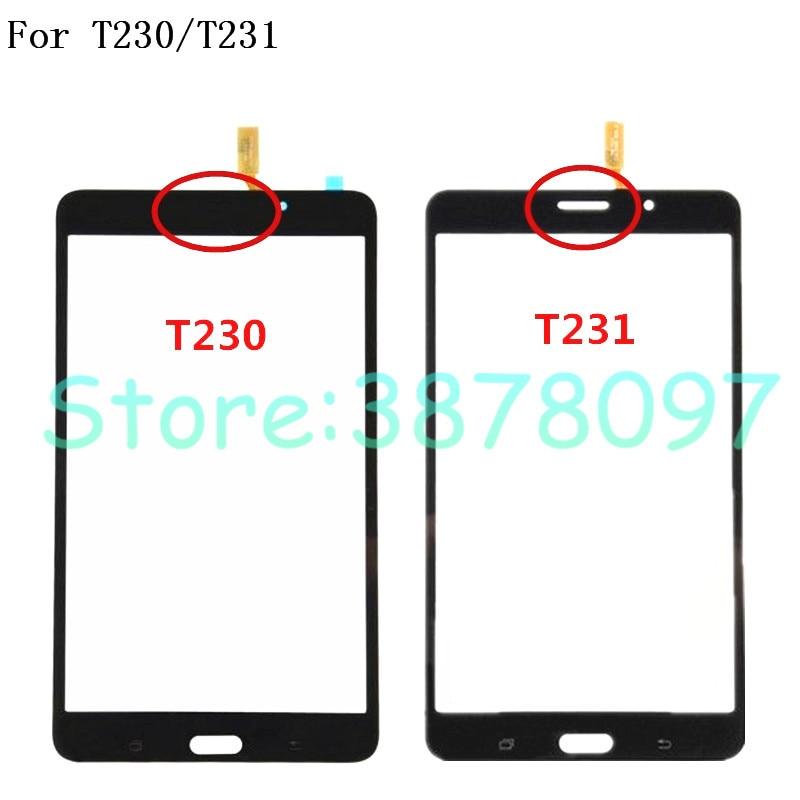 Original 7,0 pulgadas para Samsung Galaxy Tab 4 SM-T230 T230 SM-T231 T231 pantalla táctil frontal Cristal de panel digitalizador Sensor + número de seguimiento