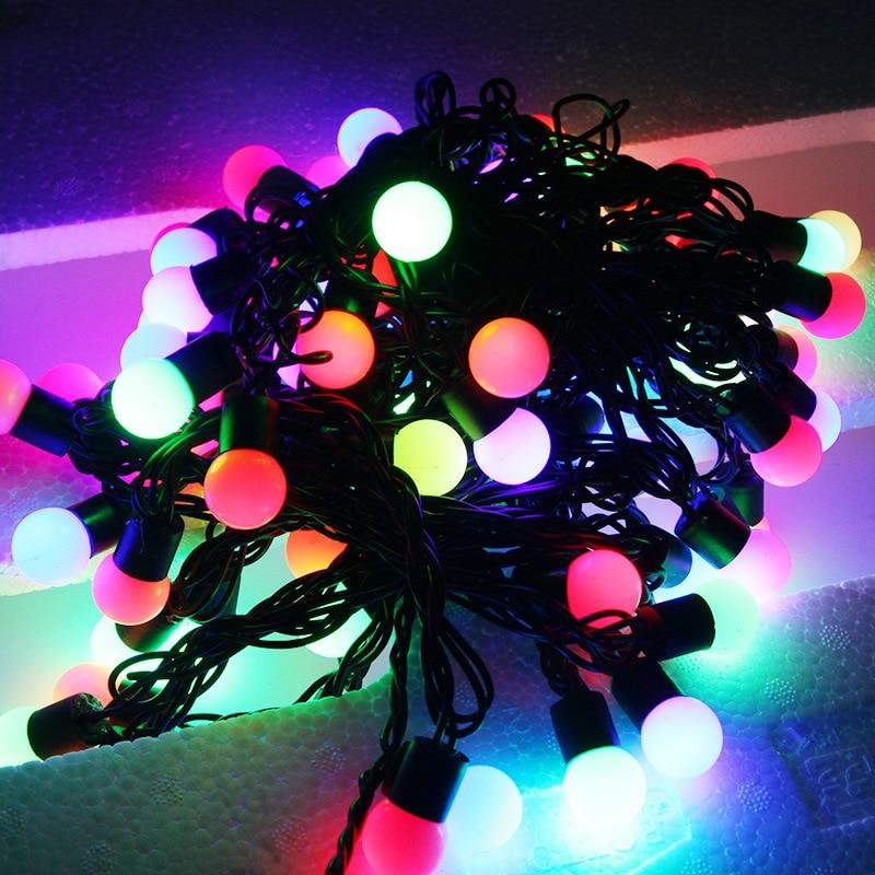 10M Led guirlandes lumineuses avec 72 pièces boule haute étanche IP68 Globe fée noël Led guirlande pour fête mariage jardin vacances