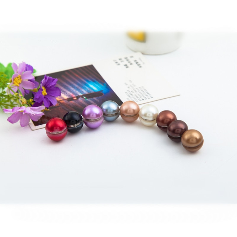 12pcs Magnetic Brooches magnetic hijab luxury accessory no hole pins brooches Magnet for muslim chif