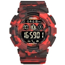 Smael Fashion Camouflage Military Sports Watches Mens Digital Watches Smart Watch Men Bluetooth horl